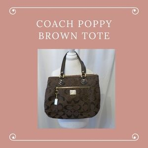 Coach POPPY Brown Tote